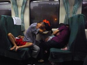 Famille train Chine