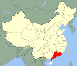Carte Guangdong