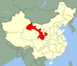 Gansu Carte