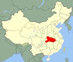 Carte Hubei