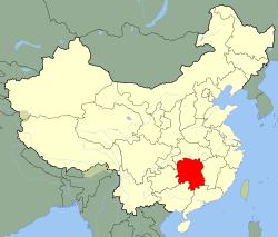 Carte Hunan
