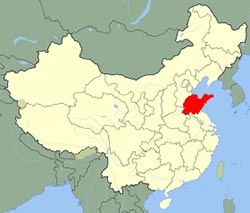 carte du Shandong