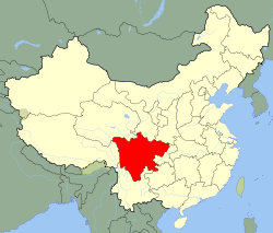 Carte Sichuan