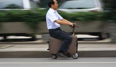 Chinois invente valise scooter