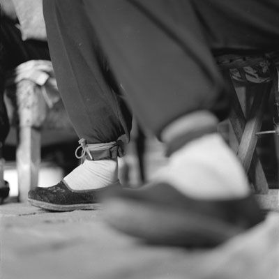 Chaussure pieds bandés