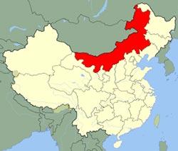 carte Mongolie Interieure