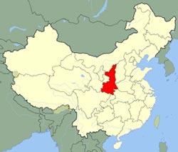carte du Shaanxi