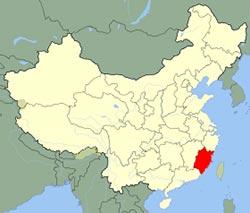 Carte de Fujian