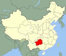 Carte de Guizhou