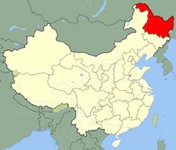 Carte de Heilongjiang