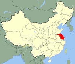 Carte de Jiangsu