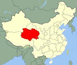 Carte du Qinghai