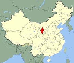 carte de Ningxia