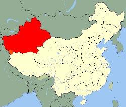 Carte Xinjiang