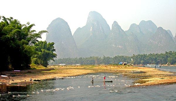 Rives de la rivière Li depuis Guilin