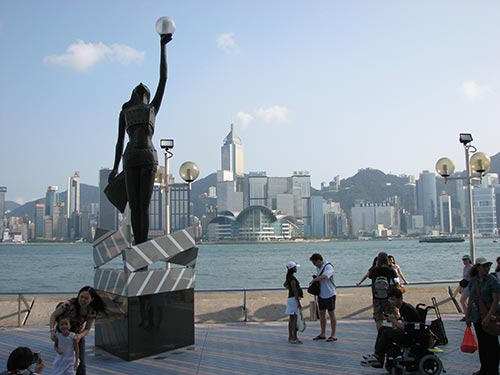 Statue sur l'Avenue des stars à Hong Kong
