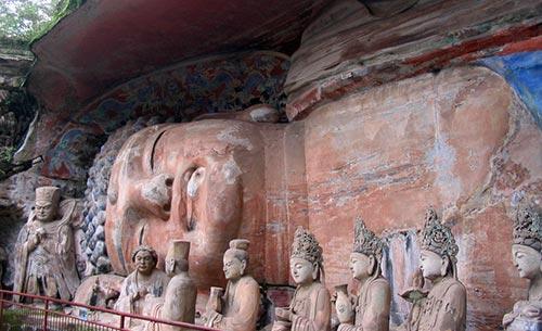bouddha allongé Dazu