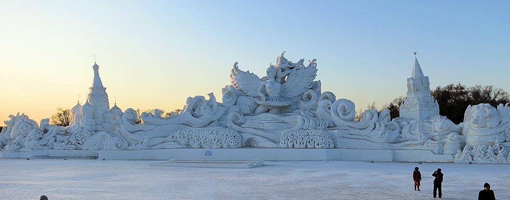 sculpture sur glace à Harbin