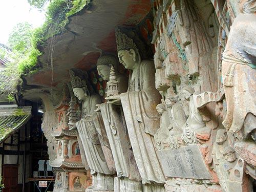 statue bouddhique à  baodingshan dazu