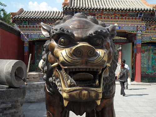 statue lion Temple Dazhao