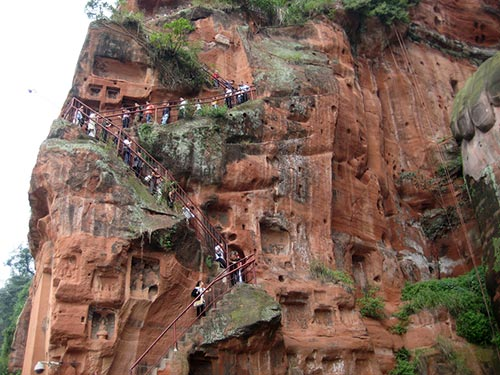 Escalier Grand Bouddha Leshan