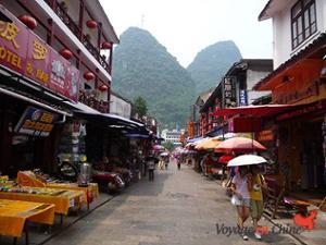 Rue piétonne Yangshuo