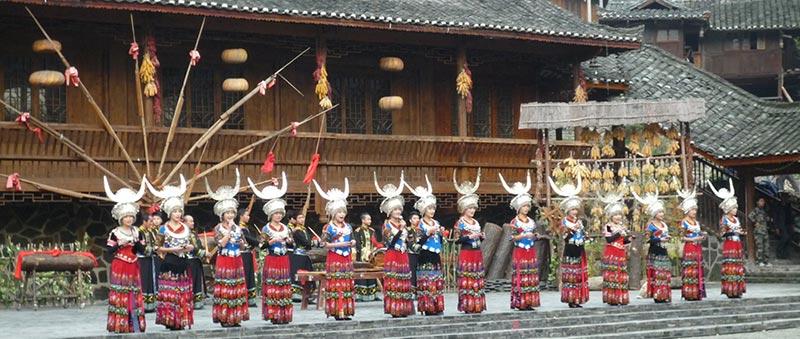 festivité Miao village Kaili