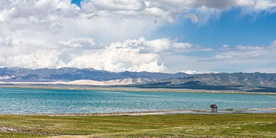 lac Qinghai près de Xining