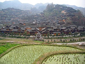 Village Xijiang près de Kaili