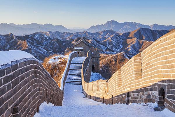 Muraille de Chine sous la neige