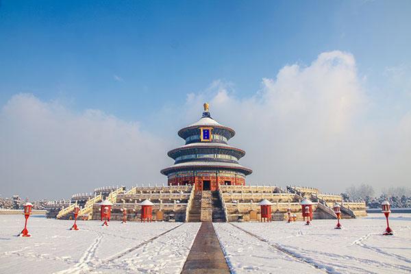 Temple du ciel en hiver